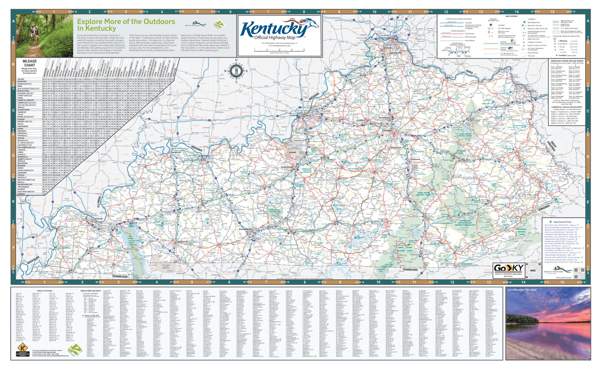 Kentucky Highway Map 2020